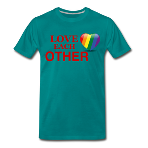 Love Each Other Men's Premium T-Shirt - teal