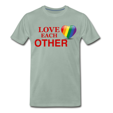 Load image into Gallery viewer, Love Each Other Men's Premium T-Shirt - steel green