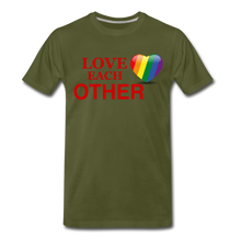 Load image into Gallery viewer, Love Each Other Men's Premium T-Shirt - olive green