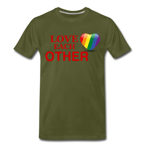 Love Each Other Men's Premium T-Shirt - olive green