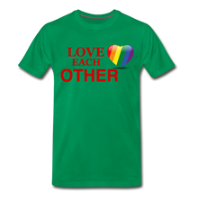 Load image into Gallery viewer, Love Each Other Men's Premium T-Shirt - kelly green