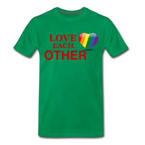 Love Each Other Men's Premium T-Shirt - kelly green