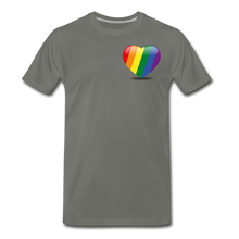 Load image into Gallery viewer, Pride Men's Premium T-Shirt - asphalt gray