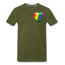 Load image into Gallery viewer, Pride Men's Premium T-Shirt - olive green
