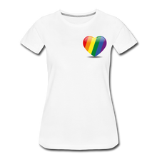 Load image into Gallery viewer, Pride Women's Premium T-Shirt - white