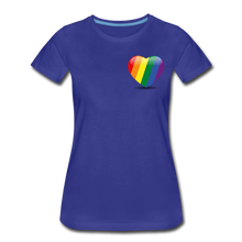 Load image into Gallery viewer, Pride Women's Premium T-Shirt - royal blue