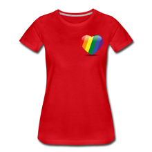 Load image into Gallery viewer, Pride Women's Premium T-Shirt - red