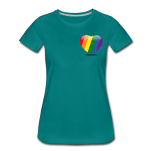 Load image into Gallery viewer, Pride Women's Premium T-Shirt - teal