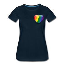 Load image into Gallery viewer, Pride Women's Premium T-Shirt - deep navy