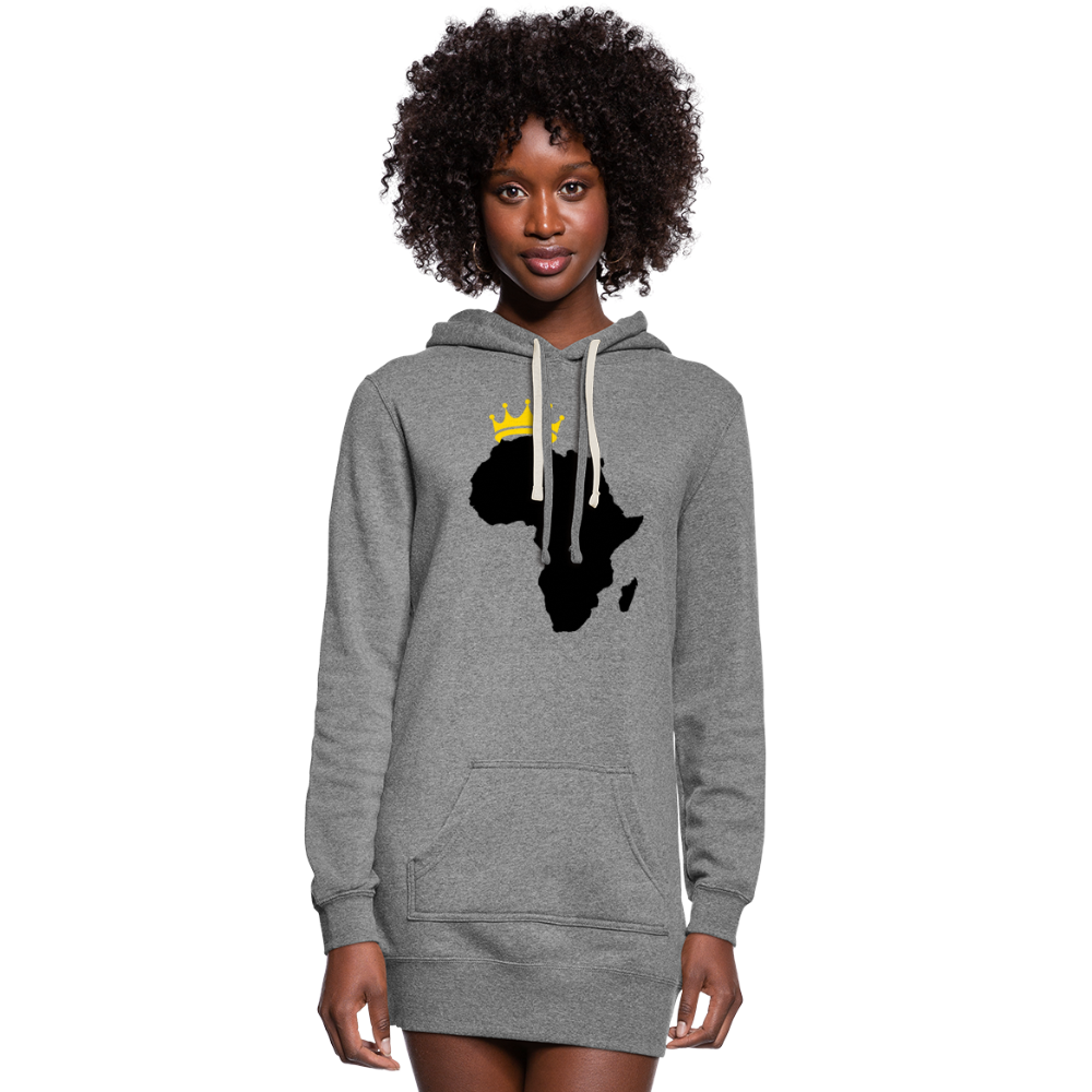 African Queen Women's Hoodie Dress - heather gray