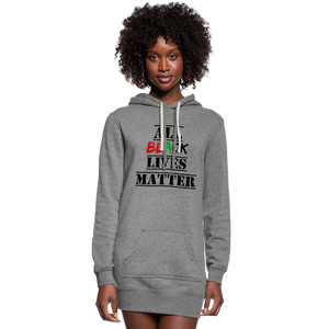 All Black Lives Matter Hoodie Dress - heather gray
