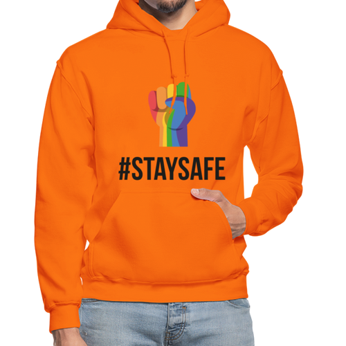 Stay Safe Pride Unisex Hoodie - orange