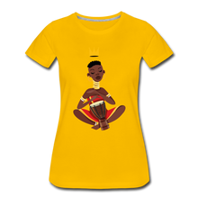Load image into Gallery viewer, Drummer Women's Premium T-Shirt - sun yellow