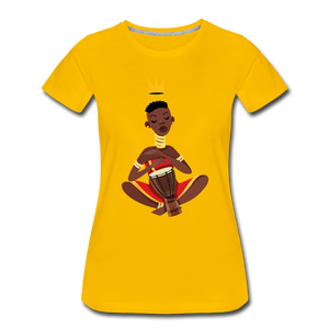 Drummer Women's Premium T-Shirt - sun yellow