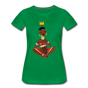 Drummer Women's Premium T-Shirt - kelly green