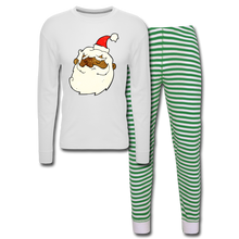 Load image into Gallery viewer, Père Noël Unisex Pajama Set - white/green stripe