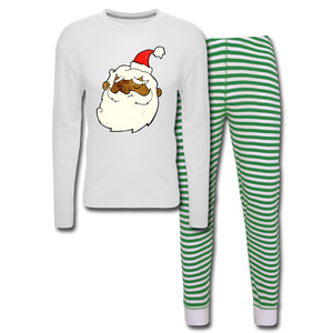 Père Noël Unisex Pajama Set - white/green stripe