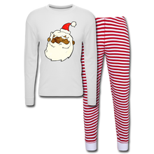 Load image into Gallery viewer, Père Noël Unisex Pajama Set - white/red stripe