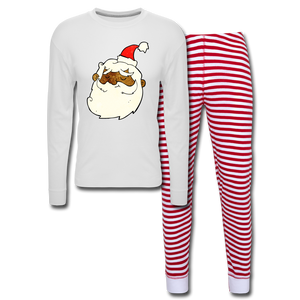 Père Noël Unisex Pajama Set - white/red stripe