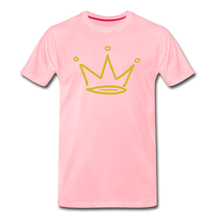Load image into Gallery viewer, Gold Glitter Crown Premium T-Shirt - pink