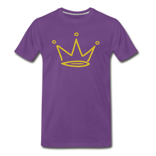 Load image into Gallery viewer, Gold Glitter Crown Premium T-Shirt - purple