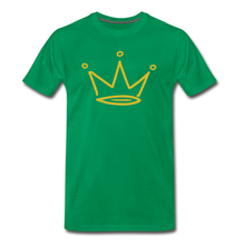 Load image into Gallery viewer, Gold Glitter Crown Premium T-Shirt - kelly green