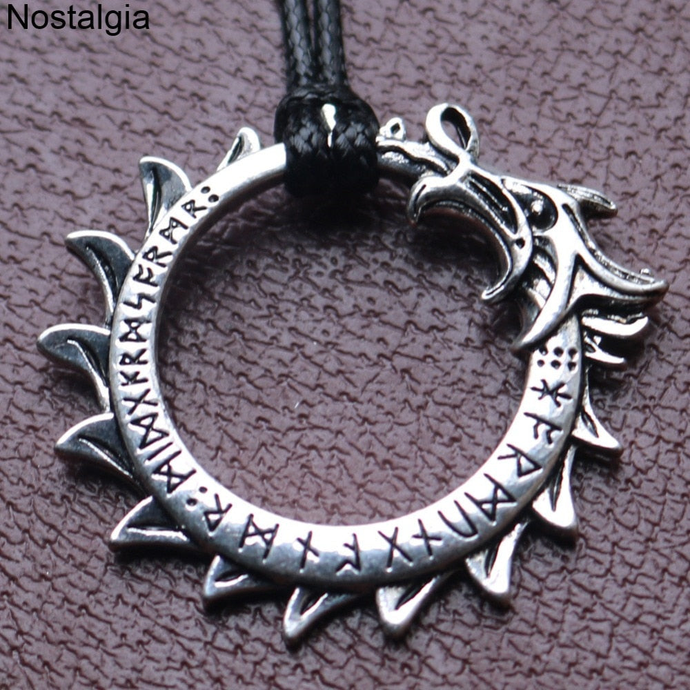 Dragon Circle Pendant Necklace