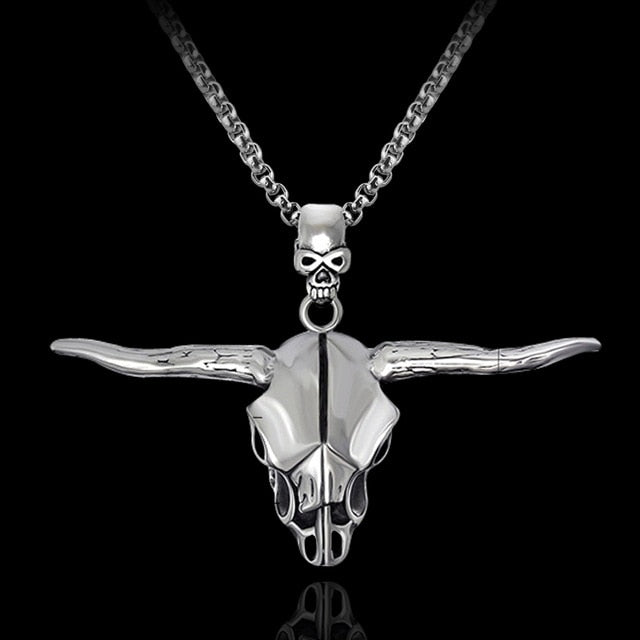 Horned Head Necklace