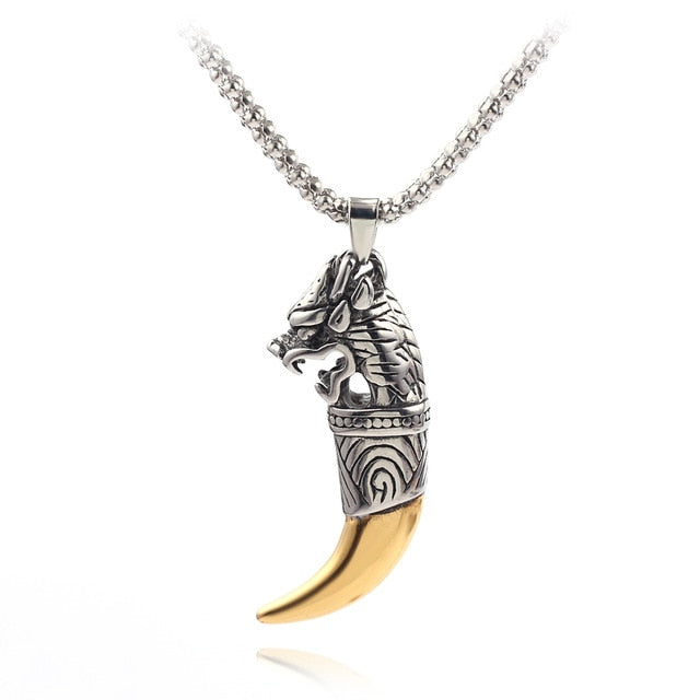 Wolf Tooth Gold Necklace