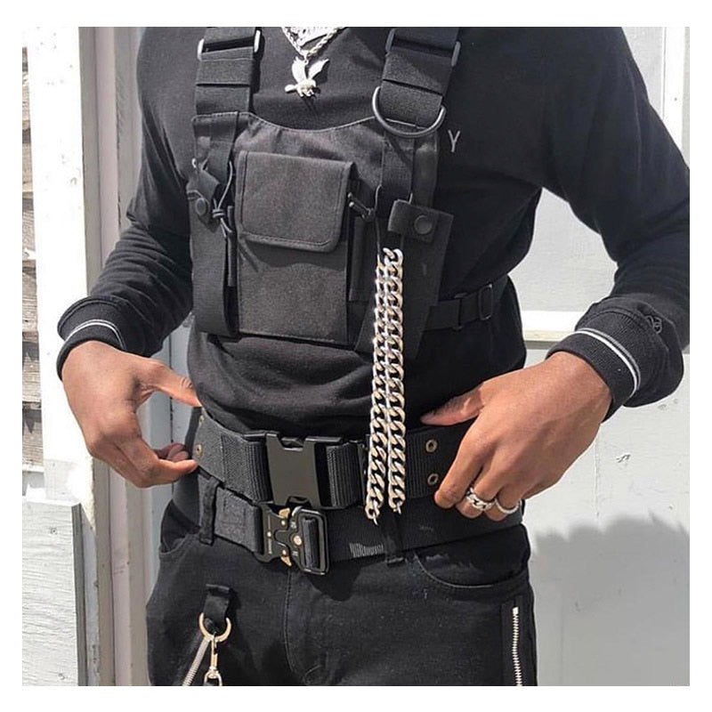 Black Vest Chest Bag c5
