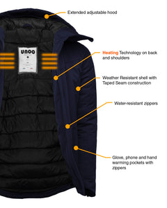 UNOO WYNE MEN'S HEATED JACKET