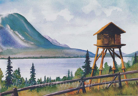 """Kenai Lake View"" Original Watercolor"