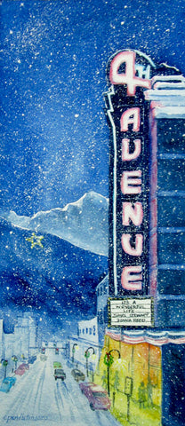 "Special Addition 2017 Holiday Print ""Stars on Fourth Avenue"" Print"