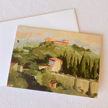 Load image into Gallery viewer, Fine Art Umbrian Hillside Greeting Card