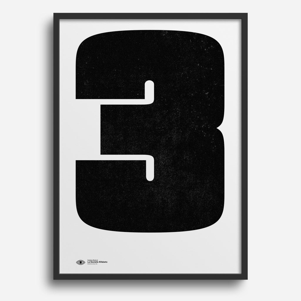 Block Letter 3 - Decor Haus Store Wall Art and Limited Edition Prints
