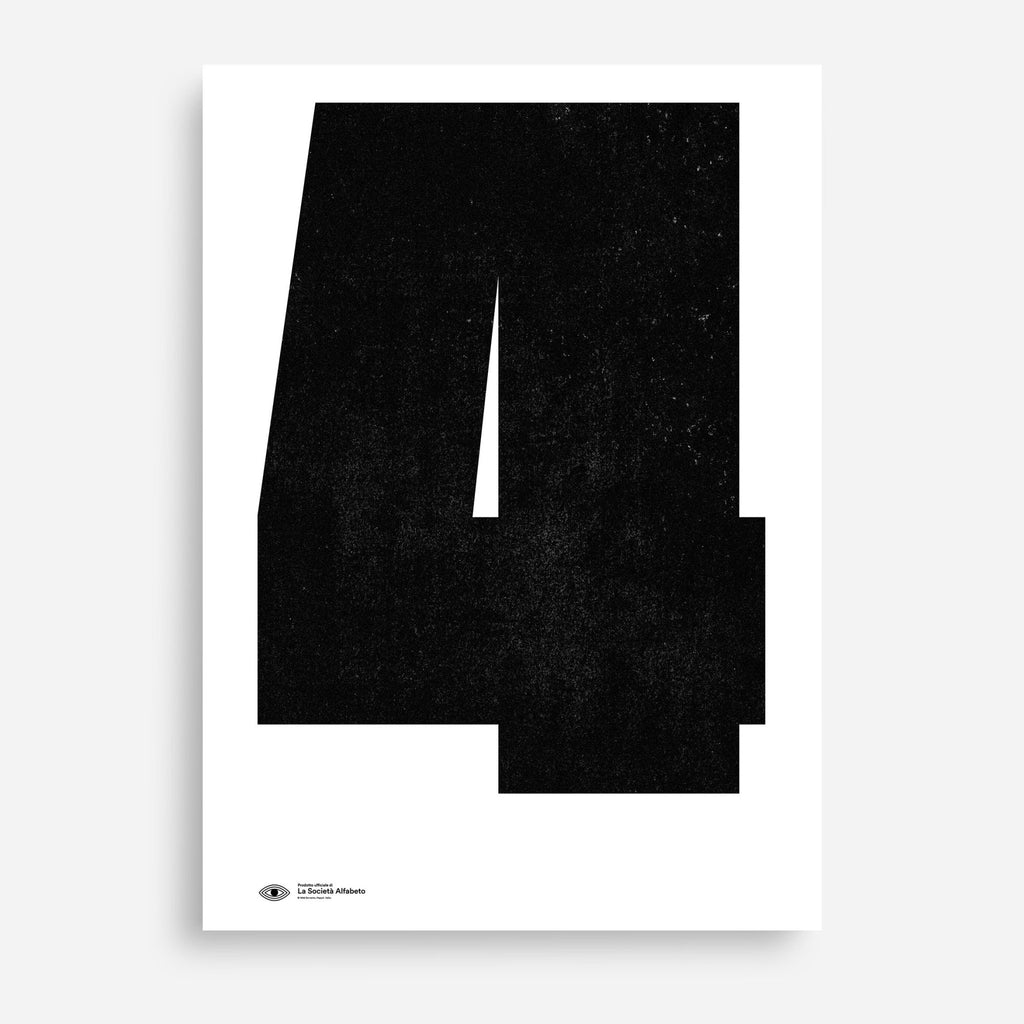Block Letter 4 - Decor Haus Store Wall Art and Limited Edition Prints