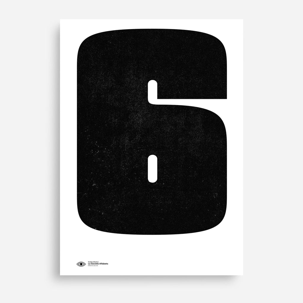 Block Letter 6 - Decor Haus Store Wall Art and Limited Edition Prints