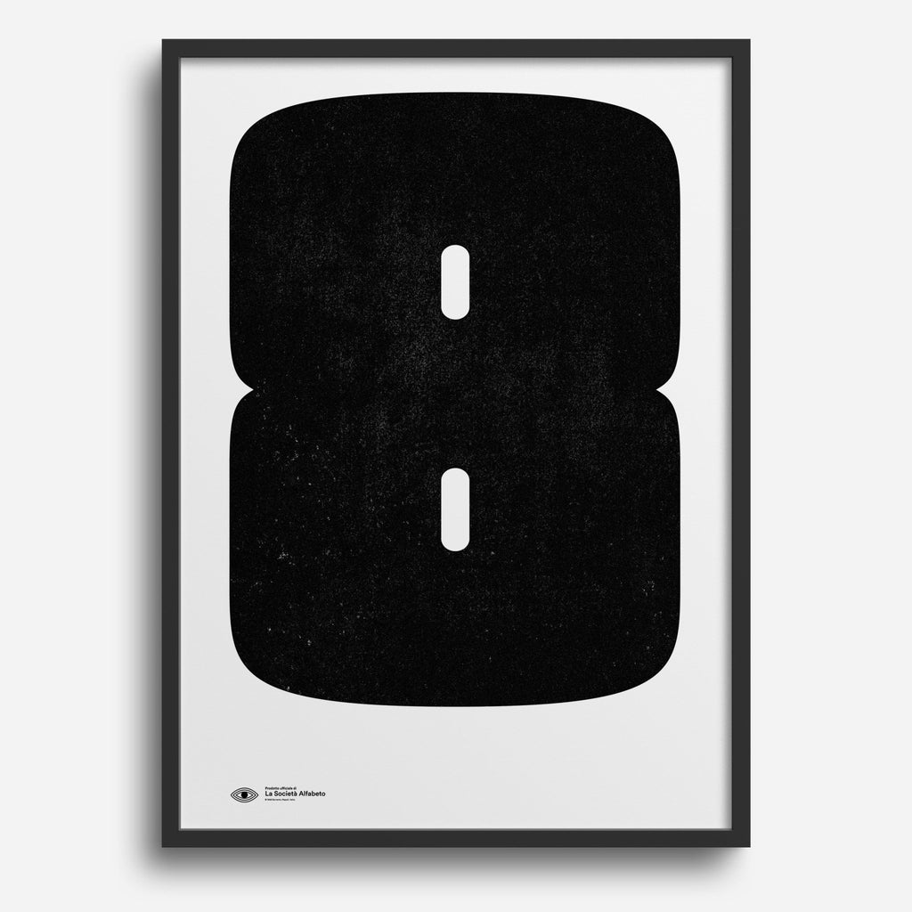 Block Letter 8 - Decor Haus Store Wall Art and Limited Edition Prints