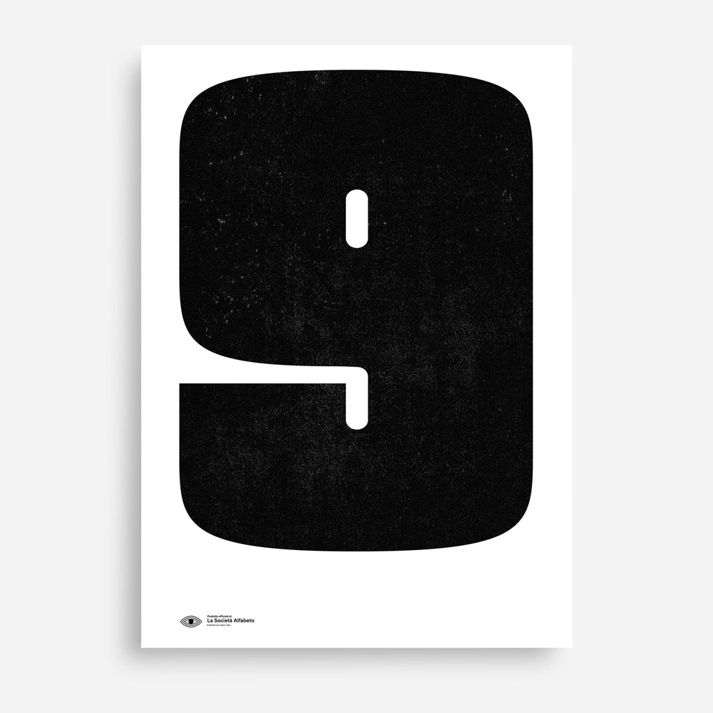 Block Letter 9 - Decor Haus Store Wall Art and Limited Edition Prints