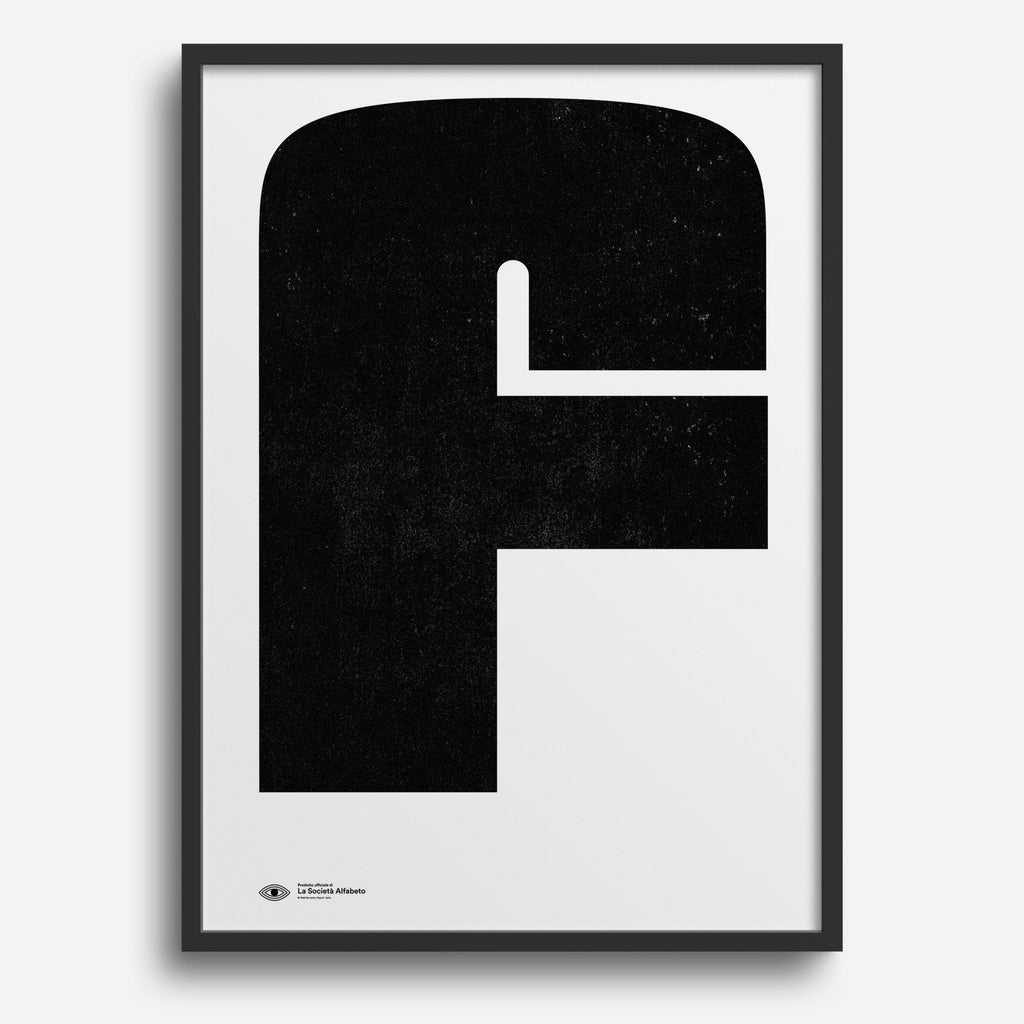 Block Letter F - Decor Haus Store Wall Art and Limited Edition Prints