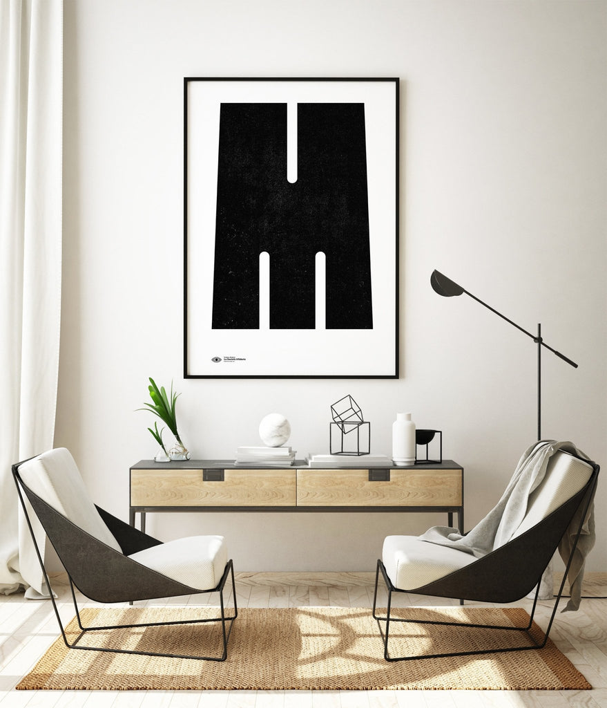 Block Letter M - Decor Haus Store Wall Art and Limited Edition Prints