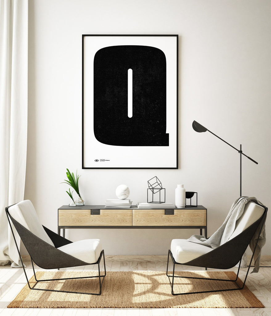 Block Letter Q - Decor Haus Store Wall Art and Limited Edition Prints