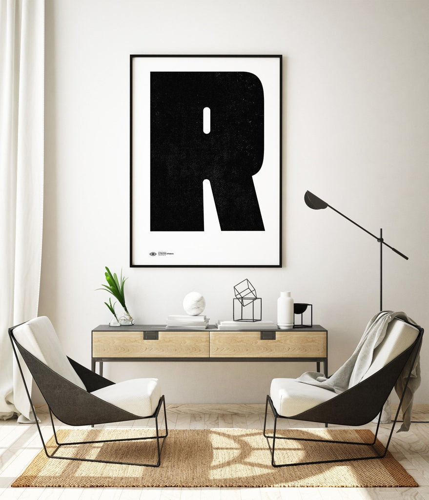 Block Letter R - Decor Haus Store Wall Art and Limited Edition Prints