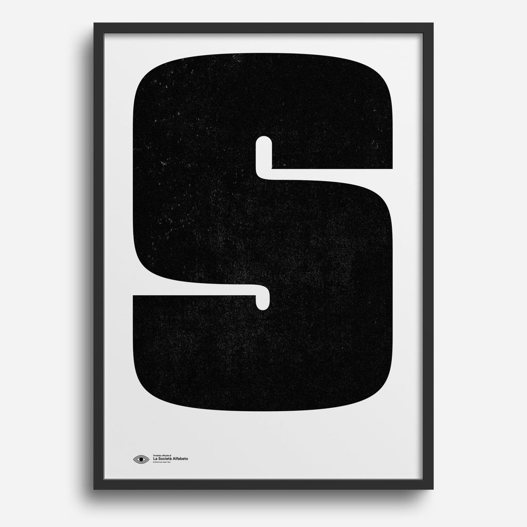 Block Letter S - Decor Haus Store Wall Art and Limited Edition Prints