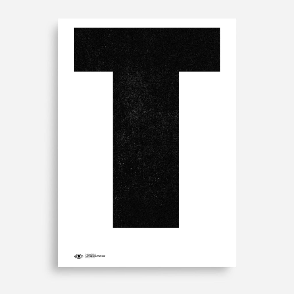 Block Letter T - Decor Haus Store Wall Art and Limited Edition Prints