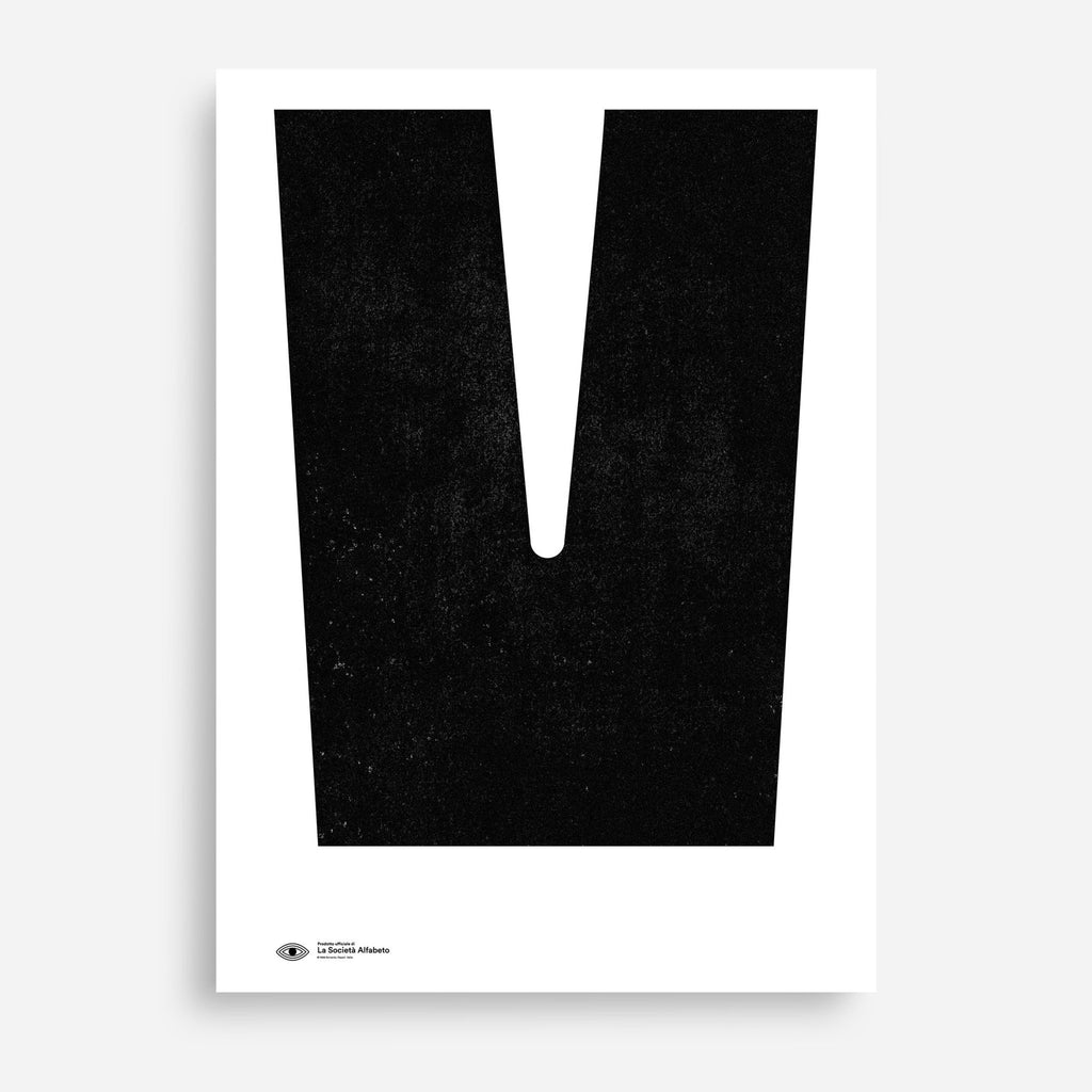 Block Letter V - Decor Haus Store Wall Art and Limited Edition Prints