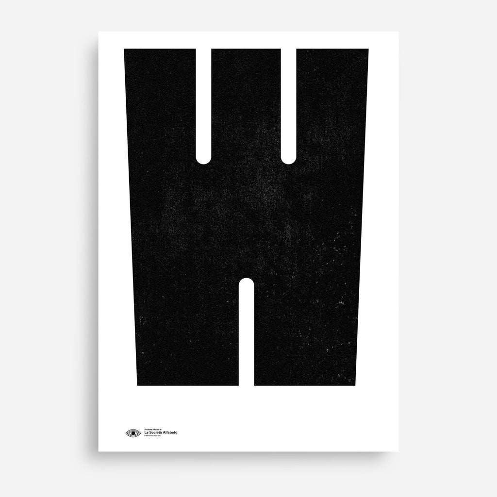 Block Letter W - Decor Haus Store Wall Art and Limited Edition Prints