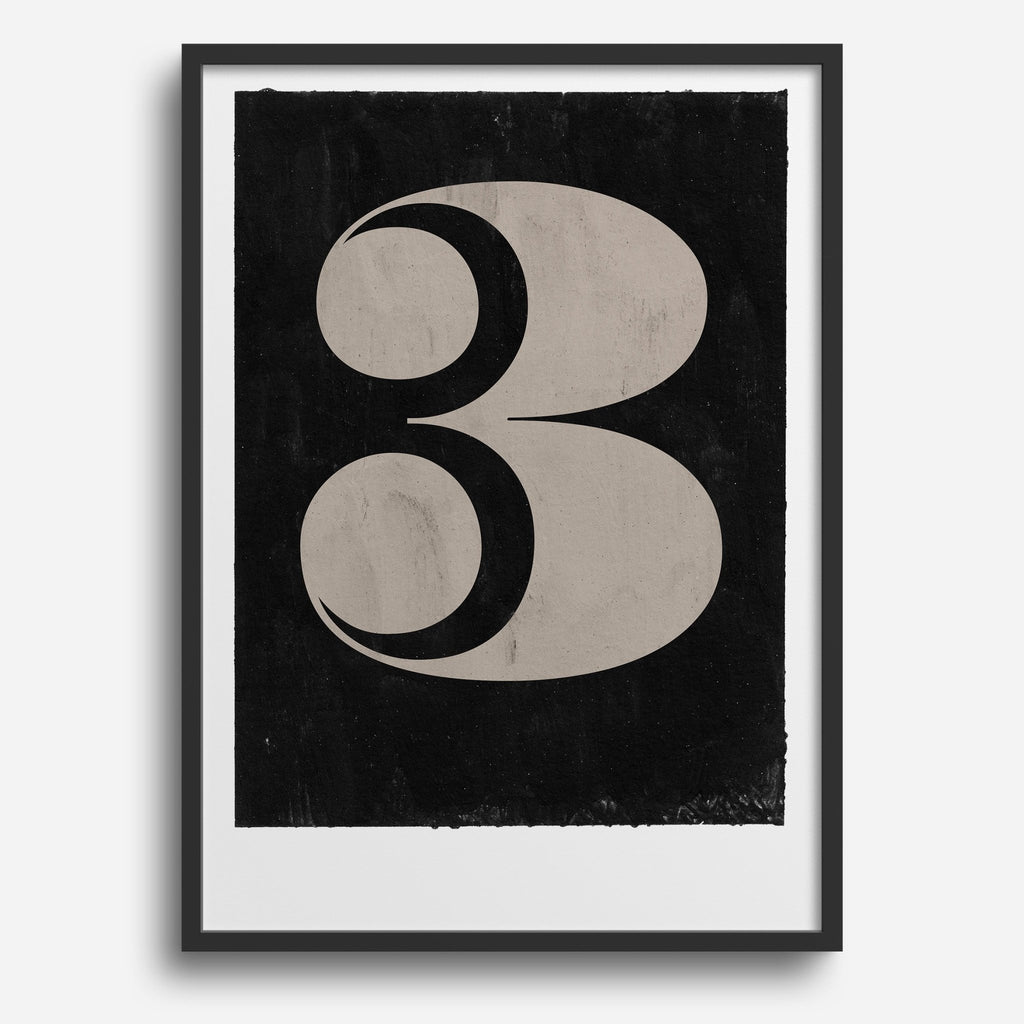 Vintage Numerals #3 - Decor Haus Store Wall Art and Limited Edition Prints