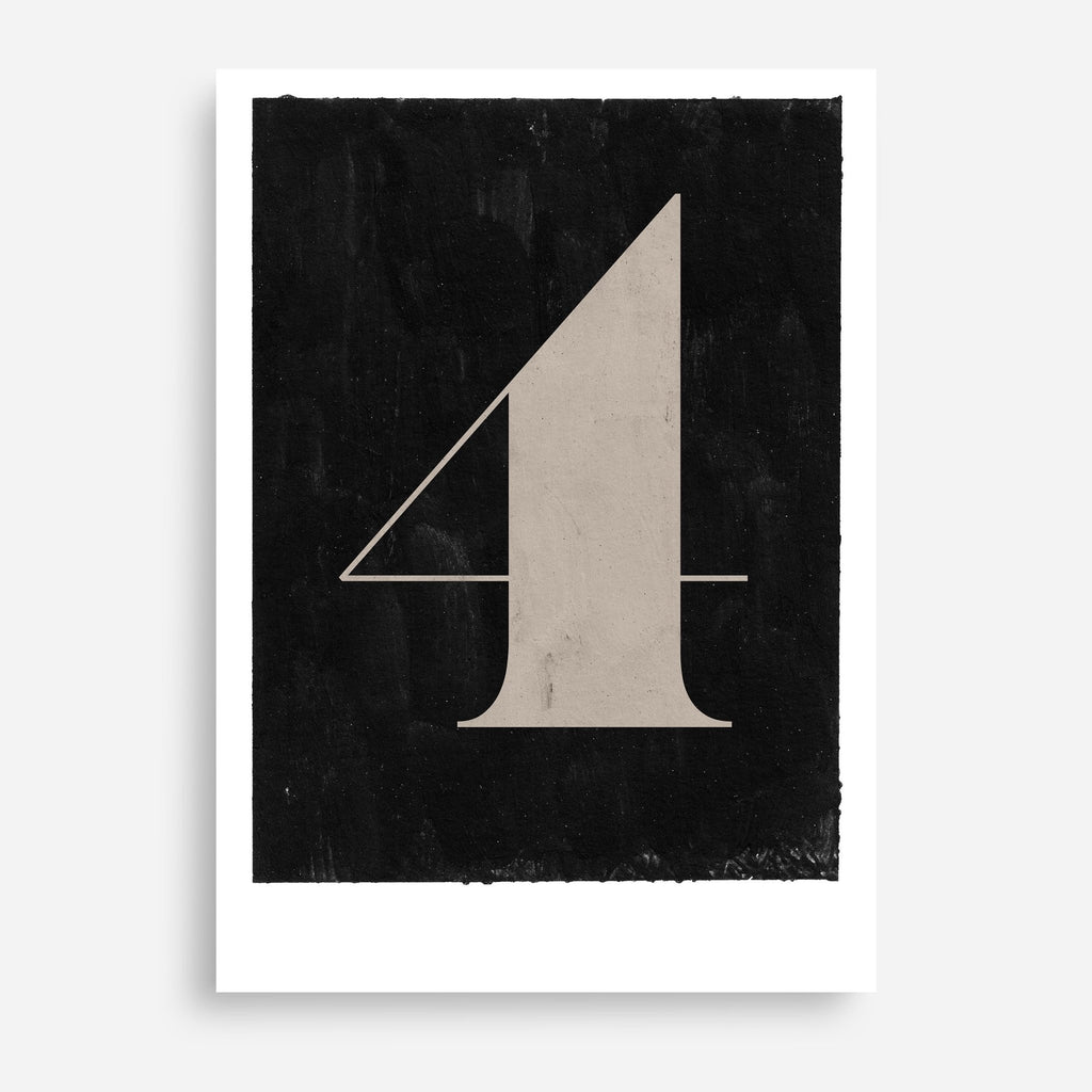 Vintage Numerals #4 - Decor Haus Store Wall Art and Limited Edition Prints