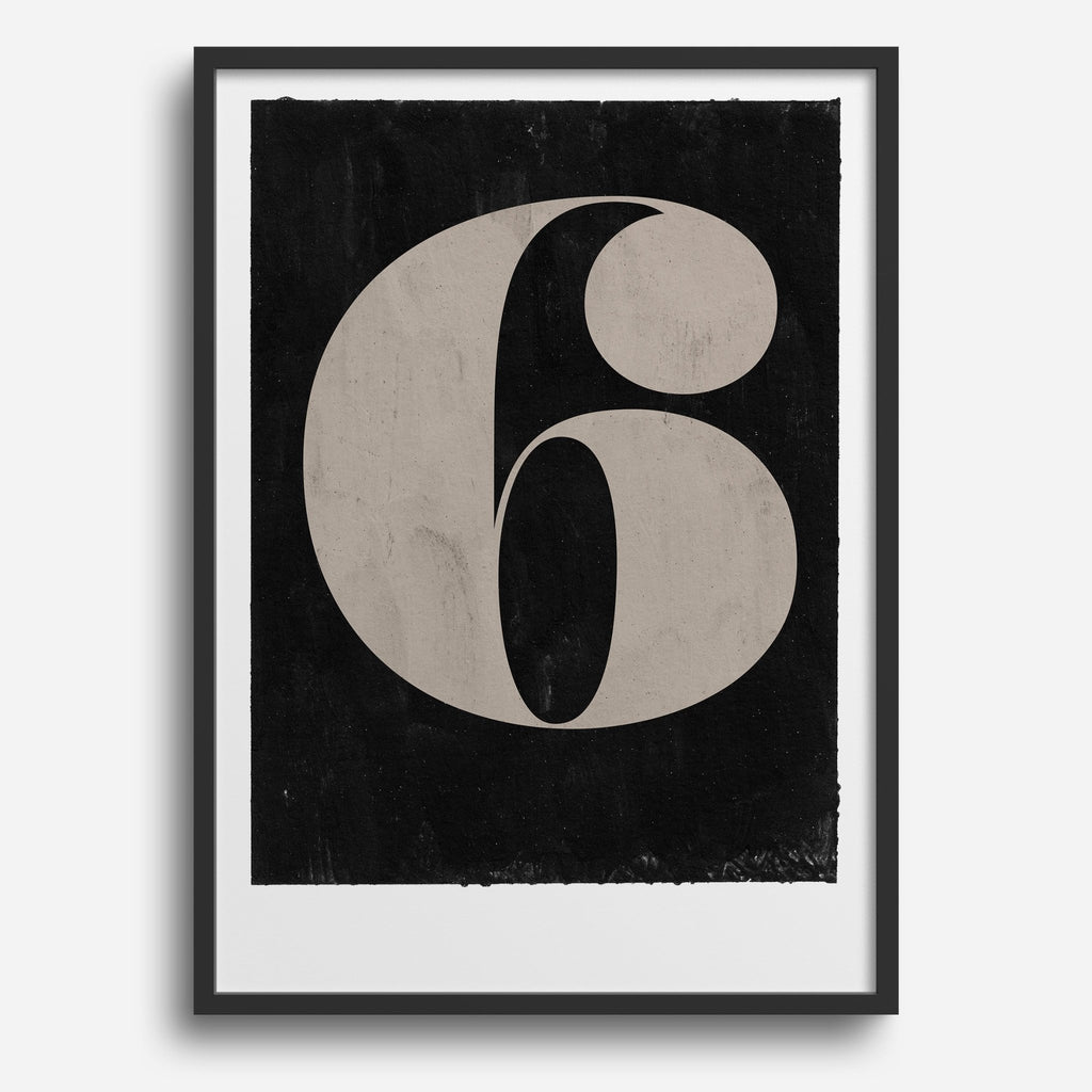 Vintage Numerals #6 - Decor Haus Store Wall Art and Limited Edition Prints